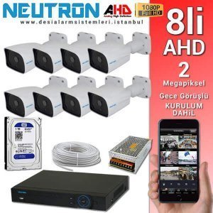 Neutron AHD 8 kameralı set